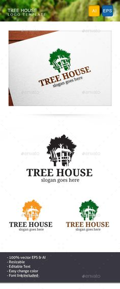 Tree House - Nature Logo Templates