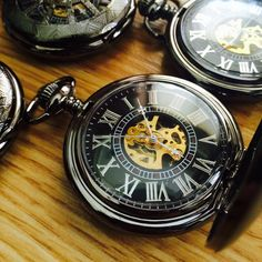 Engravable Mens Pocket Watch with Chain Black Pewter Mechanical Pocket watch Personalized ships from Canada by EngravedPocketwatch on Etsy https://www.etsy.com/listing/193833565/engravable-mens-pocket-watch-with-chain