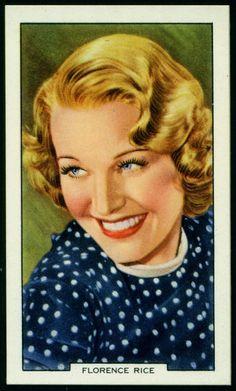 Todos os tamanhos | Cigarette Card - Florence Rice | Flickr – Compartilhamento de fotos!