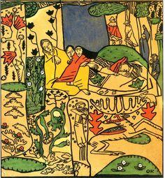 Oskar Kokoschka, The Sleepers from Die träumenden Knaben, 1917