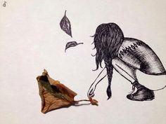 Autunno 🍂 ink_ sketch_ graphic _ illustration_ foglie _ autunno _ autumn _ illustrazione _ disegno _ inchiostro _ tramedinchistro