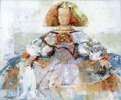 Art Print: Menina Art Print by Joaquin Moragues by Joaquin Moragues : Painting Collage, Tole Painting, Figure Painting, Paintings, Cool Posters, Various Artists, Prints For Sale, Figurative Art, New Art