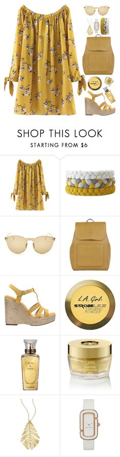 """""""Off Shoulder Dress"""" by gicreazioni ❤ liked on Polyvore featuring Illesteva, Accessorize, Paloma Barceló, Charlotte Russe, Cartier, Oribe, Hueb and Marc by Marc Jacobs"""