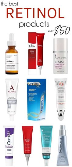 The Best Retinol Serums and Creams under $50 | These affordable yet hard-working heroes treat dark spots, wrinkles, acne, sun damage and large pores while being gentle on your skin!