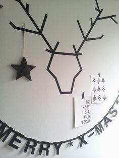 DIY Navidad: Dibujar ciervos con washi tape : x4duros.com