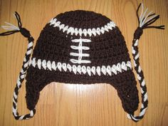 Beautiful football hat from new born to by MadewithlovebyFatima, $15.00