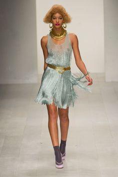 Wild and fun dress! Mark Fast Spring 2013