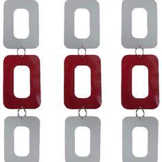 Tenda Porta Sweet 120x250 - Rosso/Bianco - Linea Oro - Gandebia