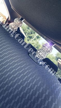 Stack 'em! These lovely bling headrest charms are so versatile! Don't just add 1 set, but add 2 to your headrest! These bling car headrest charms adds a classy touch to any vehicles. These are perfect gifts for women and easy to install. For more bling car decor, please visit the Etsy link.