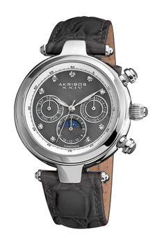 Classique Diamond Automatic Genuine Leather Watch