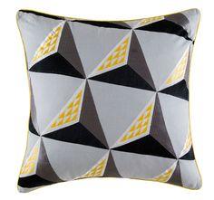 Kas Kobe 50x50cm Filled Cushion Grey