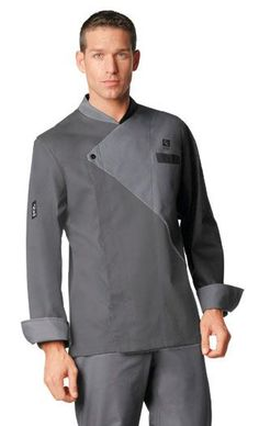 Chef with white brown combo Waiter Uniform, Men In Uniform, Men's Coats And Jackets, Chef Jackets, Chef Dress, Hotel Uniform, Restaurant Uniforms, Nigerian Men Fashion, Mens Kurta Designs