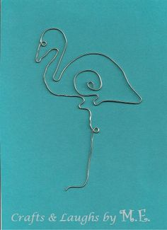 flamingo wire bookmark by CraftsLaughsbyME on Etsy, $4.00