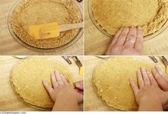 No Bake Graham Cracker Crust.  This is great for a No Bake Cheesecake or a Pudding pie.