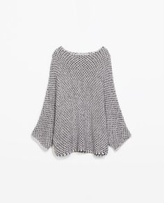 ZARA - NEW THIS WEEK - TWO-TONE BATWING TOP