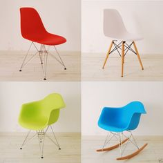 Eames Inspired Eiffel Retro Plastic Dining Chair Lounge Armchair in Home, Furniture & DIY, Furniture, Chairs | eBay