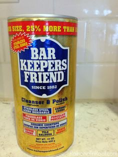 Remove Rust From Metal, How To Remove Rust, How To Clean Metal, Diy Cleaning Products, Cleaning Solutions, Cleaning Hacks, Diy Products, Cleaning Recipes, Bar Keepers Friend