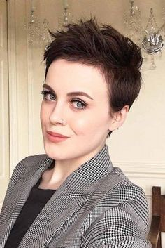 40 latest short pixie hairstyles for everyone Madame hairstyles Pixie Haircut For Thick Hair hairstyles Latest Madame Pixie short All Hairstyles, Trending Hairstyles, Short Hairstyles For Women, Short Pixie Haircuts, Short Hair Cuts, Pixie Cut Curly Hair, Messy Pixie Haircut, Haircut Short, Girl Short Hair