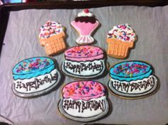 Birthday cake and ice cream cookies!