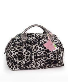 Yippydada - black  white snow leopard kitty baby diaper bag