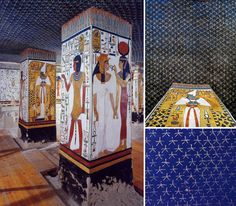 tomb of nefertari Old Egypt, Ancient Egypt, Starry Ceiling, Space Architecture, Im In Love, Van Gogh, Sky, Painting, Regine