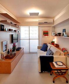 sala pequena estreita