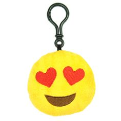 """- Super soft plush keychain - Filled with polyester fibers - Measures roughly 3"""" across - #TBOYMINIHEARTS Clip this cheerful plush to your backpack or car mirror for a day-brightening pop of color!"""