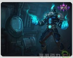 league of legends lol brand the burning vengeance cryocore brand mouse pad