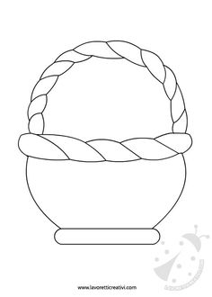 Coloring Pages - Easter - Basket Easter Activities, Easter Crafts For Kids, Preschool Crafts, Cutting Activities, Preschool Kindergarten, Fall Arts And Crafts, Diy And Crafts, Paper Crafts, Easter Basket Template