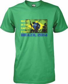 Brazil 2014 Football T-shirt - S to XXL Unisex World Cup 2014, Brazil, Football, Unisex, Mens Tops, T Shirt, Fashion, Soccer, Supreme T Shirt