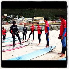 Roger volunteering his time to teach the guys from # The Salesian's Plus 16 to surf. - @surfshack_capetown- #webstagram