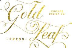 Check out Gold Leaf Press - Glitter Update by Vintage Design Co. on Creative Market