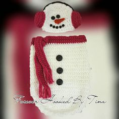 Check out this item in my Etsy shop https://www.etsy.com/listing/247570287/newborn-crochet-snowman-cocoon-set