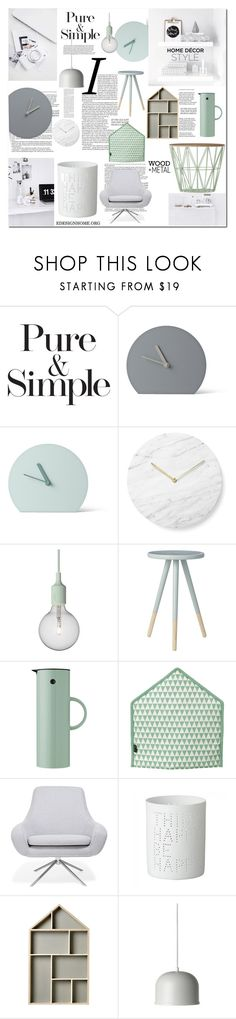 """HOME DÉCOR STYLE"" by efashiondiva7 on Polyvore featuring interior, interiors, interior design, home, home decor, interior decorating, Pure & Simple, Menu, Muuto and Bloomingville"