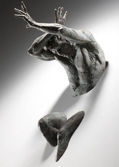 Subsection: Images of Athletes Title: Athletic Bronze Sculptures Emerge from Walls - My Modern Met / Milan-based artist Matteo Pugliese