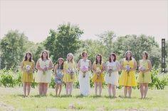 yellow bridesmaid dresses | CHECK OUT MORE IDEAS AT WEDDINGPINS.NET | #bridesmaids