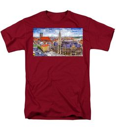 Men's T-Shirt (Regular Fit) - Munich Cityscape