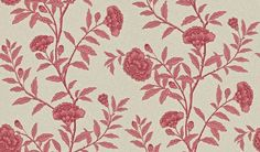 Chinese Peony (212137) - Sanderson Wallpapers - Chinese Peony is an elegant peony trail reproduced from an early 20th century wallpaper. Shown here in red orchid - more colours are available. Please request a sample for true colour match. Paste-the-wall product. #drdwallpaper chinoiserie wallpaper