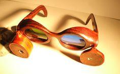 NIZO  COCOBOLO, GLASS, STEEL Wooden Sunglasses, Round Sunglasses, Four Eyes, Eyewear, Urban, Steel, Vintage, Fashion, Moda