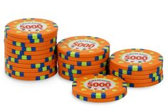 Rouleau de 25 jetons Grimaud PokerMaster 5000 - Pokeo.fr - Recharge de 25 jetons de poker Grimaud PokerMaster 5000 orange, en clay composite 14g.