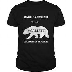 I Love Alex Salmond We are California Republic Black Shirts & Tees