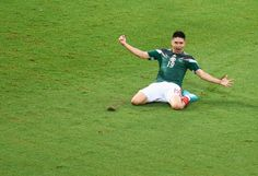 Oribe Peralta - Mexico goal scorer - 2014 FIFA World Cup round-up Day two – Netherlands thrash Spain, Mexico and Chile win