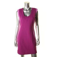 Diane Von Furstenberg Womens Carmelle Ponte Tonal Jersey Panel Cocktail Dress