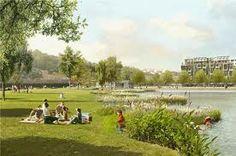 michel desvigne - Cerca con Google Landscape Architecture Design, Landscape Plans, Michel Desvigne, Thing 1, Silver Lake, Perspective, Dolores Park, Environment, River