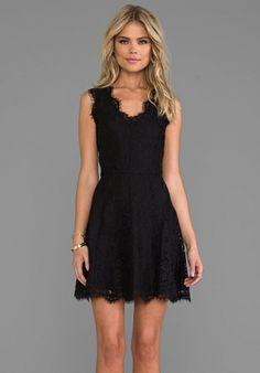 JOIE Allover Lace Nikolina B Dress in Caviar - Cocktail