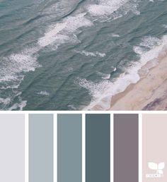 color shore, by design seeds Colours That Go Together, Design Seeds, Deco Design, Color Swatches, Colour Schemes, Paint Schemes, Colour Palettes, Color Combos, Bedroom Colors