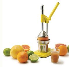 If you have a taste for fresh juice in the morning, or a love of fresh lemonade all summer long, the IMUSA citrus press will be an indispensable kitchen tool. #food #cooking #kitchen #gadgets #gear #juicing #healthyeating
