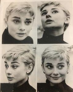 Audrey Hepburn as a blonde.
