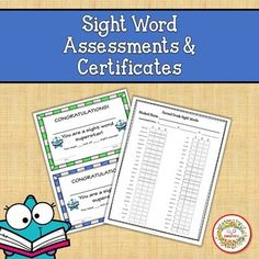Use these assessment sheets for each level of sight words. Each sheet is set up to use on 3 different dates. The words are in alphabetical order so that the words are easily found during the assessment.40 - PreK Sight Words 52 - Kindergarten Sight Words 41 - First Grade Sight Words 46 - Second Grade...