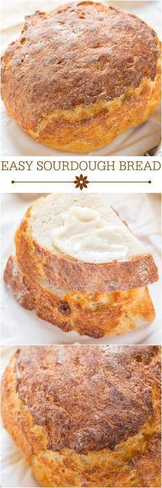 Easy Sourdough Bread - No sourdough starter required!! The bread tastes like it's from a fancy bakery and you won't believe how easy it is!!